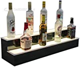 Customized Designs 36″ 2 Tier Lighted Bar Shelves – Programmable LED Remote Control