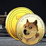 3 Pack Gold Dogecoin Commemorative Coin Gold Plated