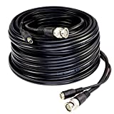 Five Star Cable RG59 100ft siamese combo cable for TVI, CVI, AHD and HD-SDI camera system Professional Grade with BNC connectors and 2.1mm power jack for plug and play connections
