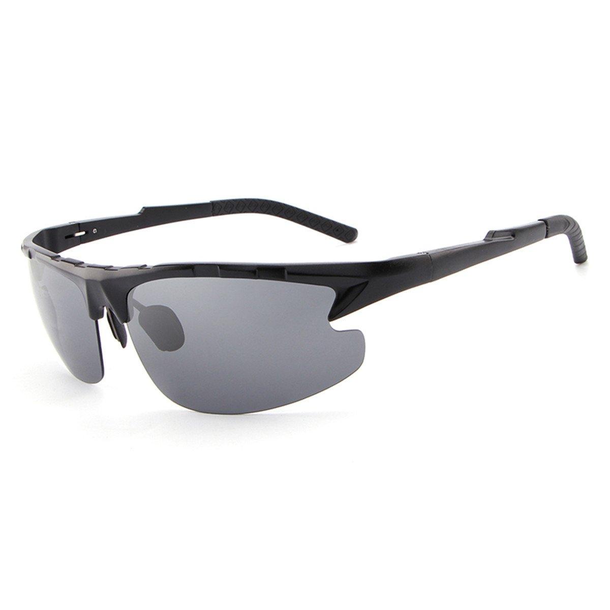 e603e3f32e2 HDCRAFTER Men Sunglasses Outdoor Sport UV400 Polarized Cycling Sunglasses  E003 (Black