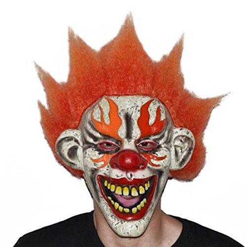 Ukn Creepy Clown Mask Adult Halloween Costum]()
