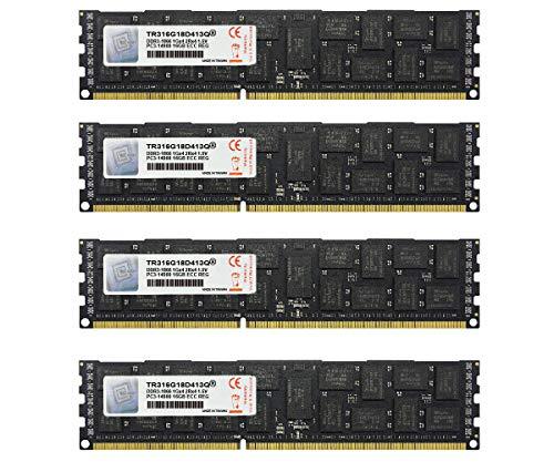 V-Color 64GB (4 x 16GB) Hynix IC 240-Pin DDR3 1866MHz (PC3-14900) ECC Registered DIMM for Apple Mac Pro 1.5V CL13 2Rx4 Dual Rank Server Memory Ram Module Upgrade (TR316G18D413Q)