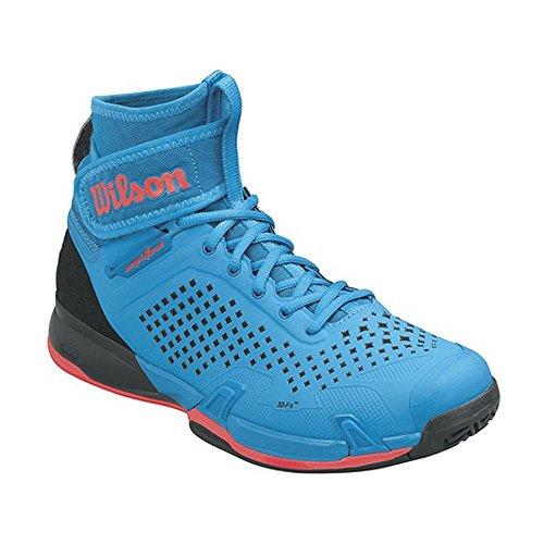 Wilson Wrs322550e120, Chaussures de Tennis Homme, Bleu (Methyl Blue / Black / Fiery Coral), 47 1/3 EU