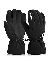 Vbiger Waterproof Ski Gloves Cold Weather Gloves Thermal Gloves for Winter Sports