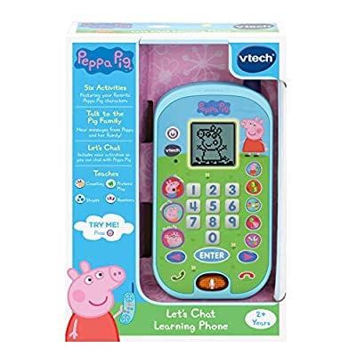 VTech Peppa Pig Let's Chat Learning Phone, Blue: Toys & Games