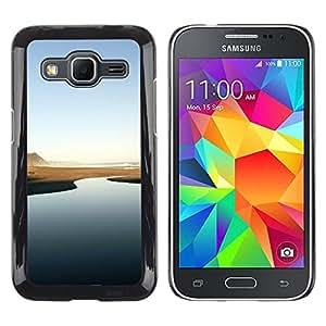 Caucho caso de Shell duro de la cubierta de accesorios de protección BY RAYDREAMMM - Samsung Galaxy Core Prime - Río del desierto - Minimalista