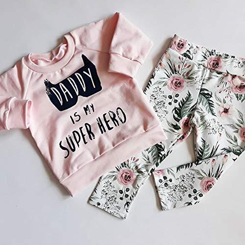 Baby Girl 3pcs Outfit Set Letter Print Long Sleeve Top+Retro Long Pants+Headband
