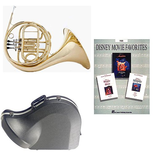 Band Directors Choice Single French Horn in F - Disney Movie Favorites Pack; Includes Student French Horn, Case, Accessories & Disney Movie Favorites Book by French Horn Packs
