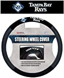 Fremont Die MLB Tampa Bay Rays Poly-Suede Steering Wheel Cover