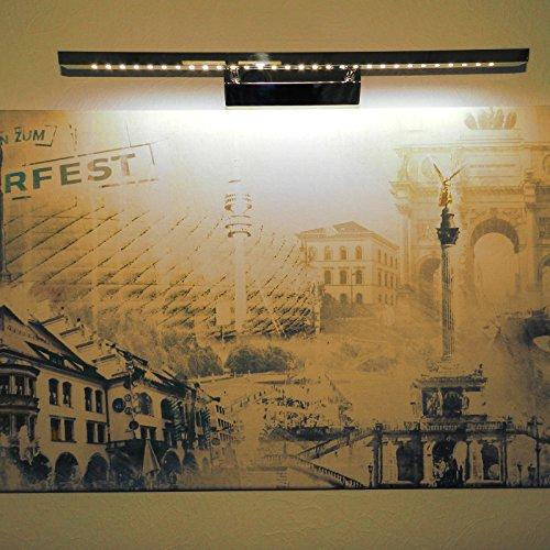 LED Bilderleuchte 7W rechteckiges Profil warmweiß mit Schalter