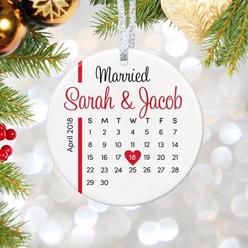 Amazon.com: Personalized Wedding Christmas Ornament 2017, Wedding ...