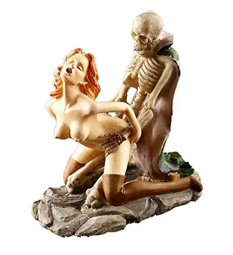 Dracula Lover Skulls Sexy Statues Adult Ceremony/Nude Figurine/Outdoor Decorations, (Halloween Nude Women)