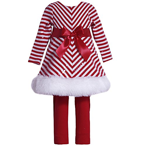 Bonnie Baby Baby Girls' Mrs Claus Santa Christmas Dress & Leggings 24M (X13717) (Mrs Claus Dress For Girls)