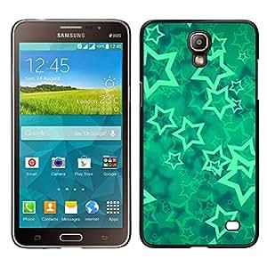 iKiki Tech / Estuche rígido - Menta mística abstracta - Samsung Galaxy Mega 2