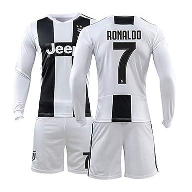 8911718b6 LISIMKE 2018-2019 Home C Ronaldo #7 Juventus Kids Or Youth Soccer Jersey &