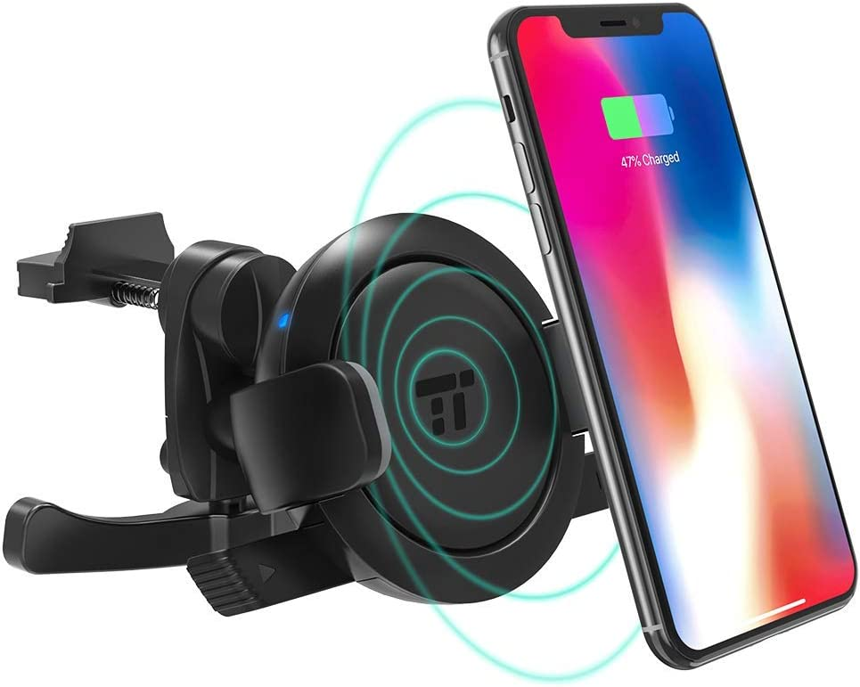 Car Phone Mount with 5W Wireless Charging for Samsung Galaxy S9//S8//S7 /& Qi-Enabled Device Renewed TaoTronics Vent Phone Holder for Car