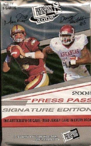 (1 (One) Pack - 2008 Press Pass Signature Edition (SE) Football Hobby Pack (5 Cards per Pack) - Possible Matt Ryan, Matt Forte, Chris Johnson, Joe Flacco, DeSean Jackson, Darren McFadden, and/or Felix Jones Rookie Cards!!!!)