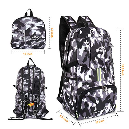 Multi Hiking Lightweight functional gray Mountaineer Sport Camping Travel Backpack Casual Cycling Baishiqi Outdoor Rucksack Climbing Camouflage 40L Water resistant Trekking for qwIWB