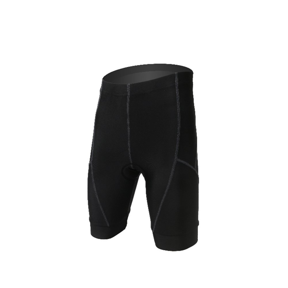 LSERVER Boys and Girls Unisex Kid 3D Gel Padded Cycling Shorts for Summer Black