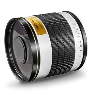 Walimex DX 500 mm f/6.3 - Objetivo para Sony/Minolta (distancia focal fija 500mm, apertura f/6.3), color negro y blanco