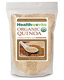 Healthworks Quinoa White Whole Grain Raw Organic, 2lb