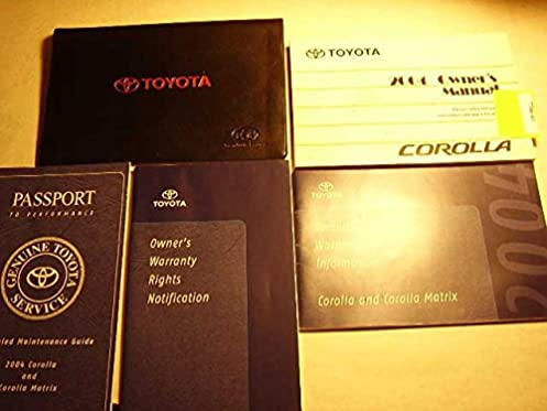 2004 toyota corolla owners manual toyota amazon com books rh amazon com 2004 toyota corolla s owners manual 1994 Toyota Corolla Model