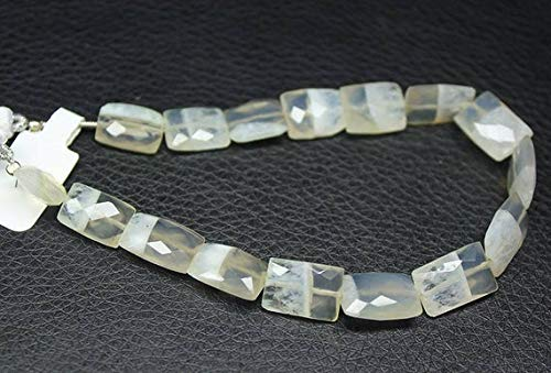 GemAbyss Beads Gemstone Bi Color Solar Quartz Faceted Rectangle Chiclet Gemstone Loose Earring Craft Beads Strand 8 Inch Long 14mm 18mm Code-MVG-28216