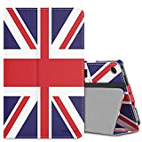 MoKo Case for All-New Amazon Fire 7 Tablet (7th Generation, 2017 Release Only) - Slim Folding Stand Cover Case for Fire 7, British Flag (with Auto Wake/Sleep)