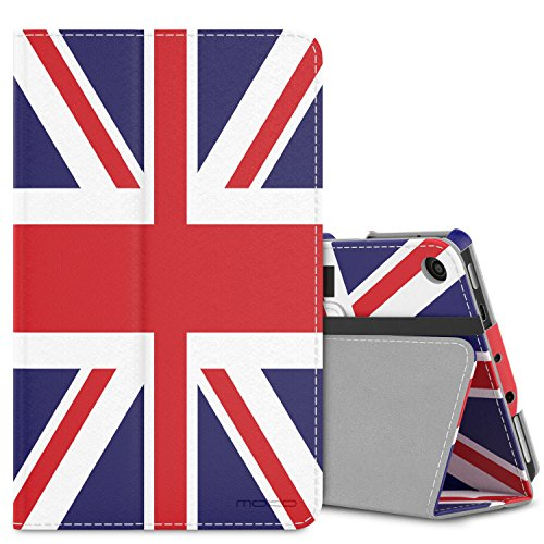 MoKo Case for All-New Amazon Fire 7 Tablet (7th Generation, 2017 Release Only) - Slim Folding Stand Cover Case for Fire 7, British Flag (with Auto Wake/Sleep) by MoKo