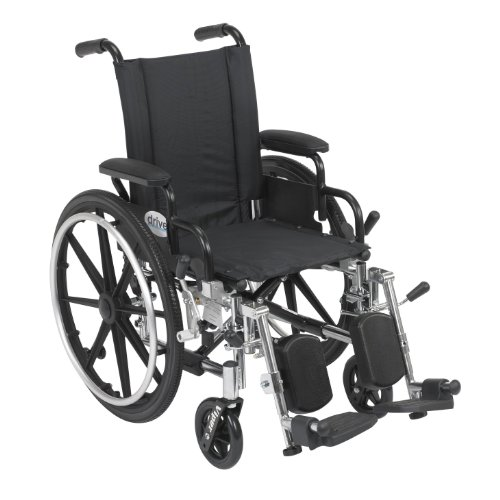 (Viper Wheelchair with Flip Back Removable Arms, Desk Arms, Elevating Leg Rests, 14