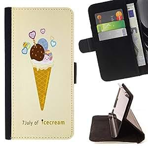 Jordan Colourful Shop -Ice Cream Summer -- Leather Case Absorciš®n cubierta de la caja de alto impacto FOR Samsung Galaxy Note 4 SM-N910 N910 IV ---
