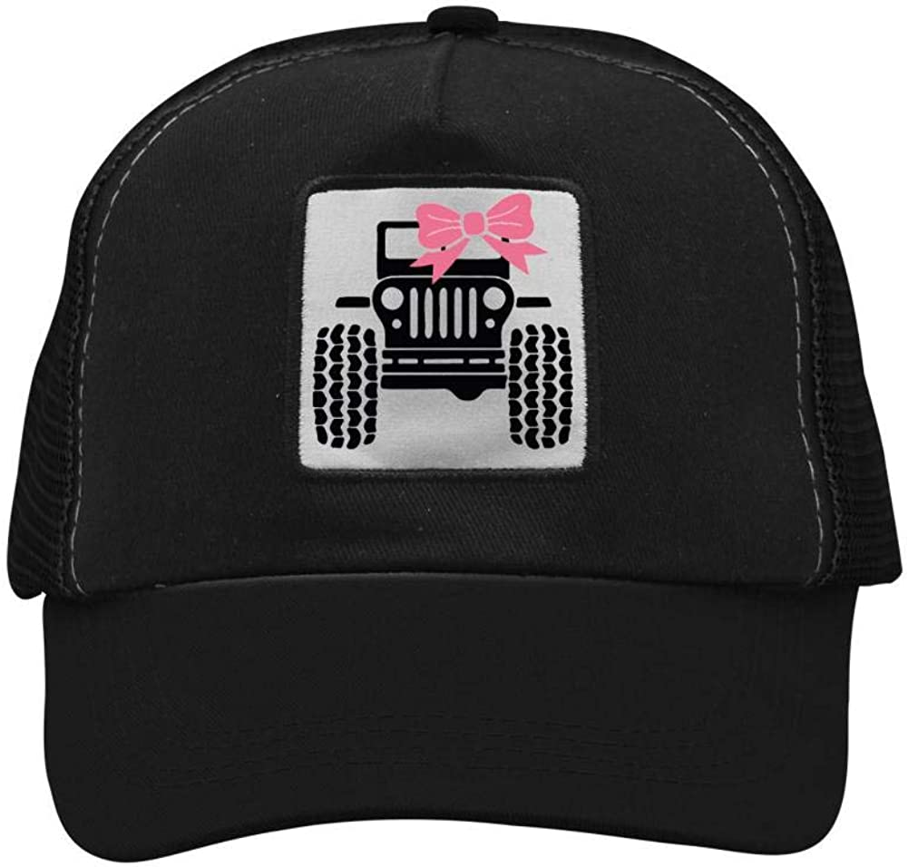 Awesome Jeep Girl For Jeep Lovers Mesh Caps Adjustable Unisex Snapback Trucker Cap