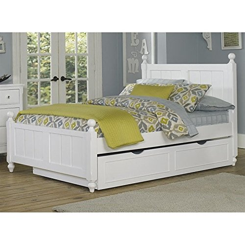 NE Kids Lake House Kennedy Full Bed with Trundle in White