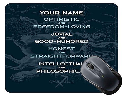 BleuReign(TM) Personalized Zodiac Sign Custom Name Sagittarius Nov23-Dec22 Square Mouse Pad