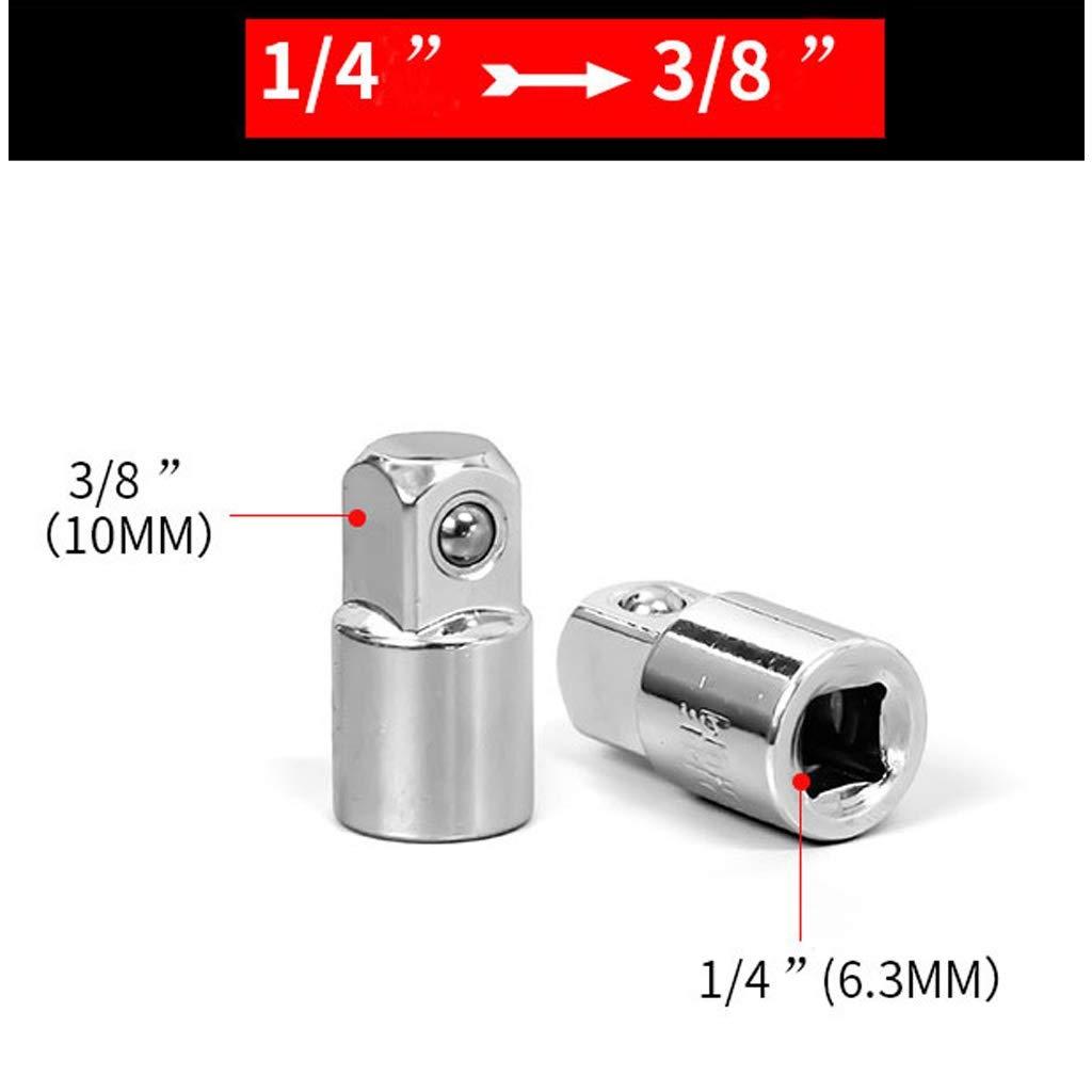 Size : 6-Piece Set Sgfccyl 1//4 3//8 1//2 Cl/é /à cliquet Adaptateur en Acier Chrome Vanadium Sleeve Drive Adapter Socket Converter Cl/é /à Manches Convertisseur commun