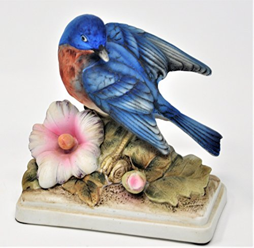 Lefton Hand Painted Blue Bird Figurine