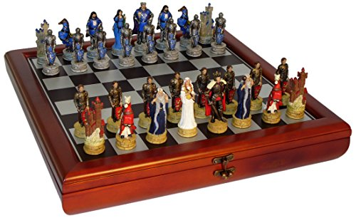 King Arthur Chest Set (For Pieces Glass Sale Chess)