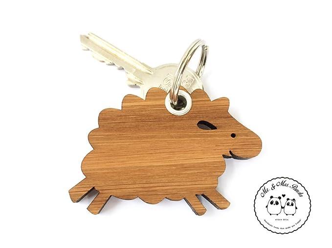 Mr. & Mrs. Panda llavero oveja - 100% fabricado en Alemania ...
