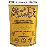 New - John's Killer Protein - Complex Carb Blend. A Perfect Mix of Double-Milled Organic Non-GMO Whole Oats and Our 100% Grass fed Protein. Dissolves smoothly & Ideal in Your Shaker Cup.