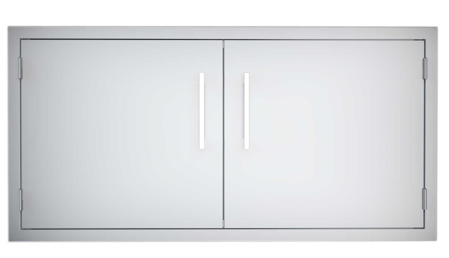 Sunstone B-DD42 Double Raised Doors for Stone Island with Shelves, 42-Inch