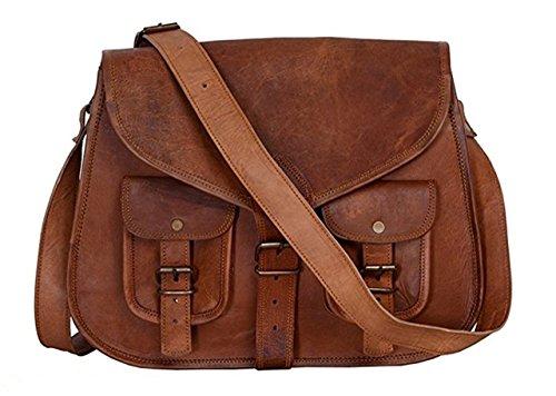 Handmade Bag Wala Women Vintage Style Genuine Brown Leather Cross Body Shoulder Bag Handmade Purse by HandMadeBagWala