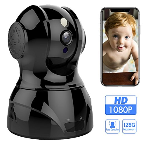 1080p 2.4GHz HD Wireless Indoor WiFi Home Security Camera With Face/Sound/Motion Detection, Two Way Audio, Night Vision Remote Control For Baby Elder Pet Office, Support Android IOS Windows Mac by AONOKOY