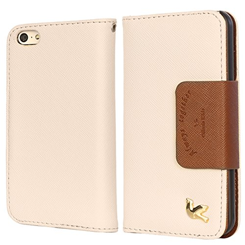 iPhone 5c Case,By HiLDA,Wallet Case,PU Leather Case,Credit Card Holder,Flip Cover Case[Brown] For iPhone 5C