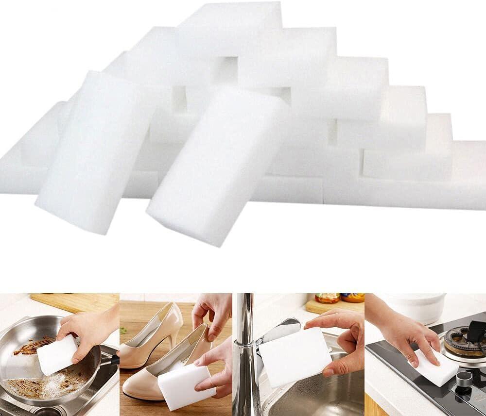 Magic Cleaning Sponges Eraser, 50/100 Pack Premium Sponge Foam Cleaning Pads, Dish Sponges, Household Cleaning Sponge for Kitchen, Bathroom, Furniture, Floor Wall Cleaner(50 Pcs)