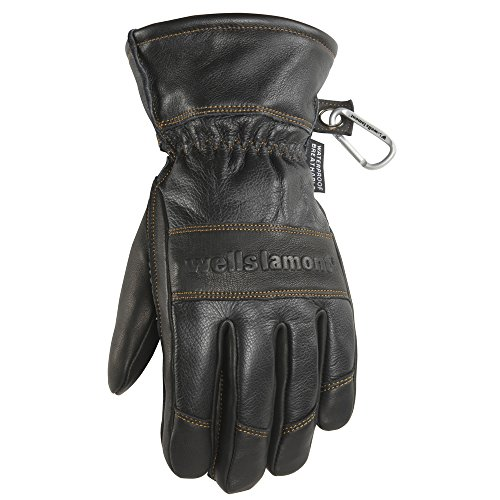 Men's Black HydraHyde Leather Winter Gloves, Waterproof Insert, XX-Large (Wells Lamont 7664XXK) (Best Winter Glove Brands)