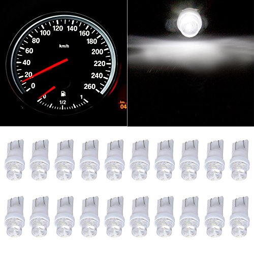 CCIYU 20 Pack White T10 168 194 Led Bulbs Instrument Cluster Panel Dash Spread Light