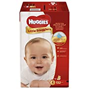 HUGGIES Little Snugglers Baby Diapers, Size 2, 132 Count (Packaging May Vary)