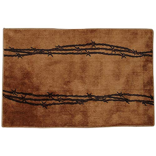 Barbed Wire Bath Rustic Rug - Tan
