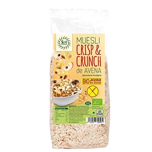Sol Natural Crisp & Crunch Muesli Bio, sin Gluten - Paquete ...