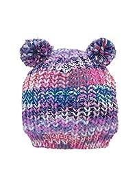 Beanie Bobble Pompom Hat Children Kids Baby Boys Girls Winter Ski Knitted Cap